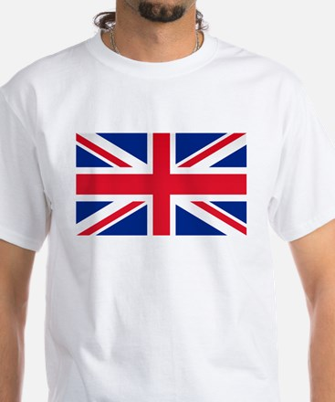 Britain Flag White T-Shirt
