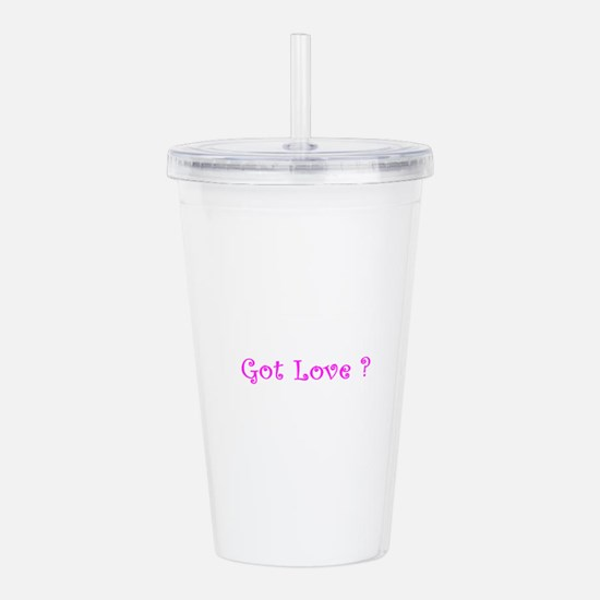 got LOVE.png Acrylic Double-wall Tumbler