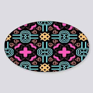 Elegant Decorative Seamless Pattern Sticker (Oval)