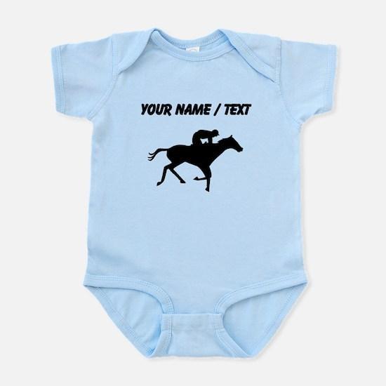 Custom Horse Racing Silhouette Body Suit