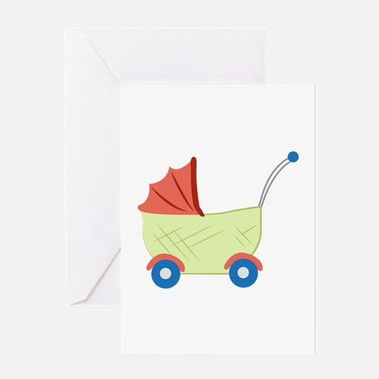 Baby Stroller Greeting Cards