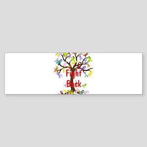 Fight Back Cancer Ribbon Tree Bumper Sticker