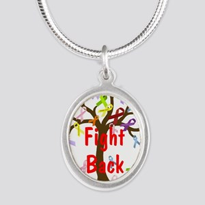 Fight Back Cancer Ribbon Tree Necklaces