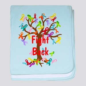Fight Back Cancer Ribbon Tree baby blanket