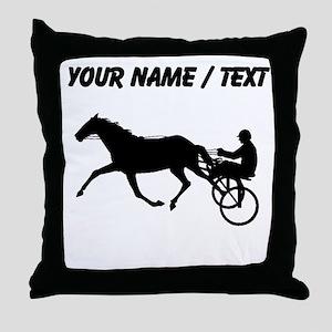 Custom Harness Racing Throw Pillow