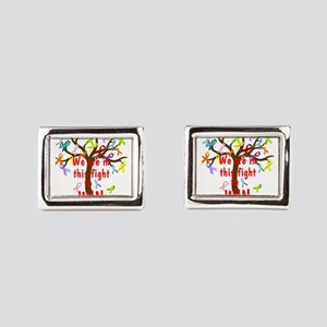 We are in this figh... Rectangular Cufflinks
