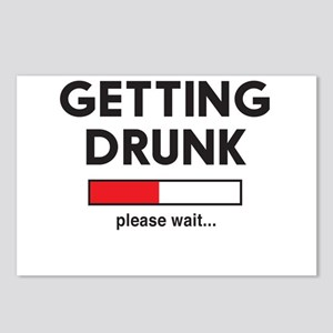 Getting Drunk please wait... Postcards (Package of