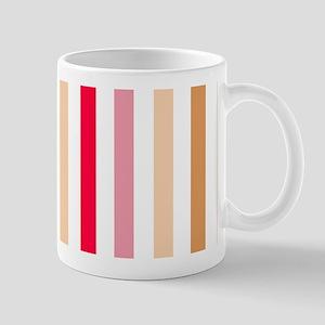 Colorful Pastel Stripes Pattern Mug