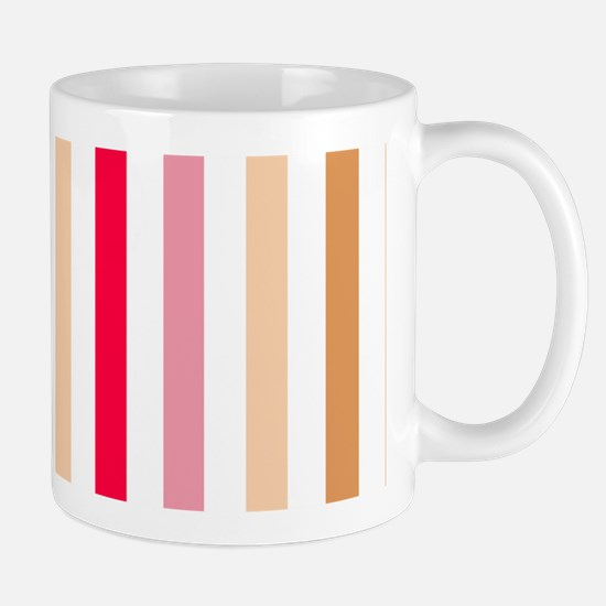 Colorful Pastel Stripes Pattern Mug