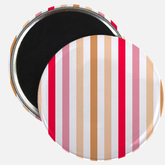 Colorful Pastel Stripes Pattern Magnet