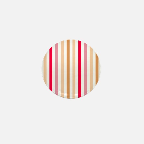 Colorful Pastel Stripes Pattern Mini Button