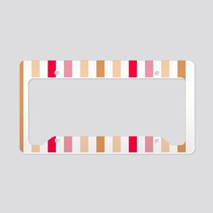 Colorful Pastel Stripes Patte License Plate Holder