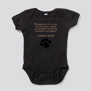 Gandhi Animal Quote Infant Bodysuit Body Suit