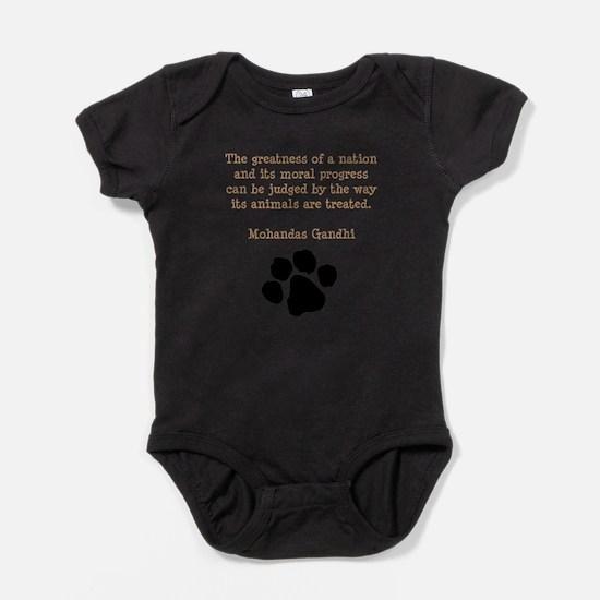 Gandhi Animal Quote Infant Bodysuit Body Suit