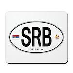 Serbia Intl Oval Mousepad