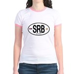Serbia Intl Oval Jr. Ringer T-Shirt