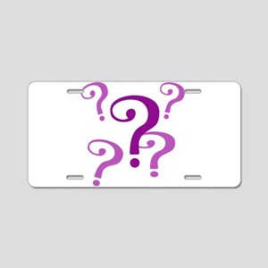 question marks Aluminum License Plate