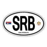 Serbia Euro Oval Oval Sticker