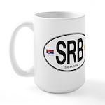 Serbia Intl Oval Large Mug