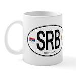 Serbia Intl Oval Mug