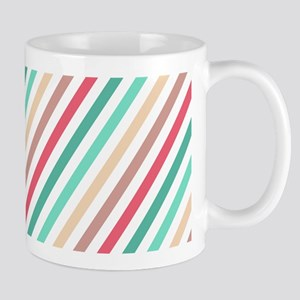 Diagonal Colorful Stripes Mug