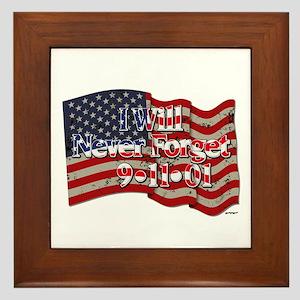 I Will Never Forget 9-11-01 American Framed Tile