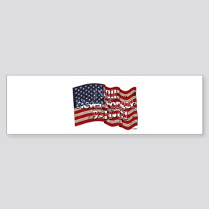I Will Never Forget 9-11-01 American Flag Bumper S