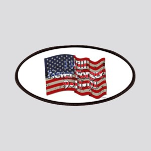 I Will Never Forget 9-11-01 American Flag Patches