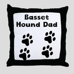 Basset Hound Dad Throw Pillow