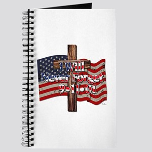 I Will Never Forget 9-11-01 American Flag Journal