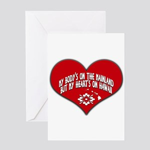 Heart's On Hawaii Greeting Cards