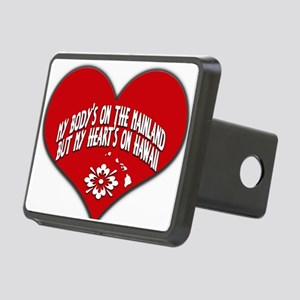 My Heart's In Hawaii Rectangular Hitch Cover