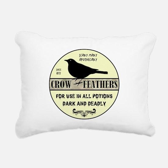 CROW FEATHERS Rectangular Canvas Pillow