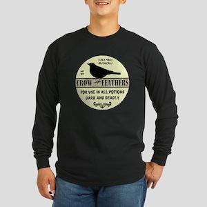 CROW FEATHERS Long Sleeve Dark T-Shirt