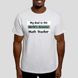 Worlds Greatest Math Teacher Light T-Shirt
