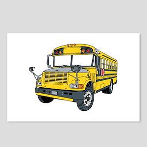 School Bus Postcards (Package of 8)
