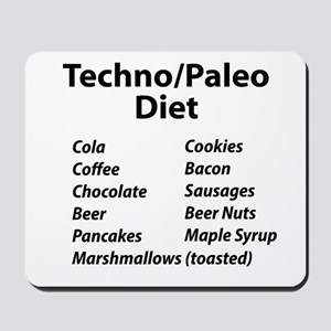 Techno/Paleo Diet Mousepad
