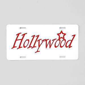 hollywood script Aluminum License Plate