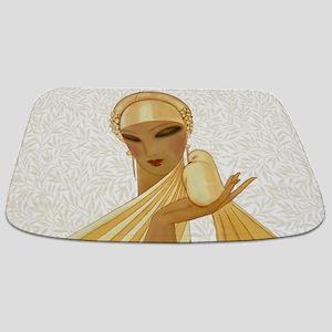 Serenity, Peace, Love Art Deco Bathmat