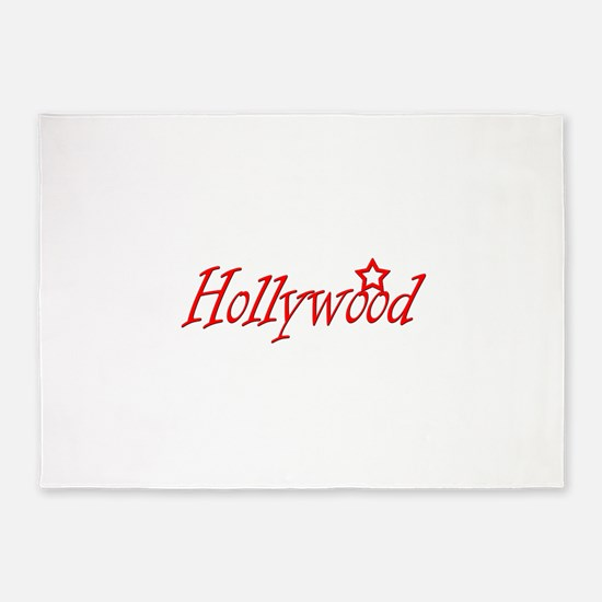 hollywood script.png 5'x7'Area Rug