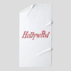 hollywood script Beach Towel