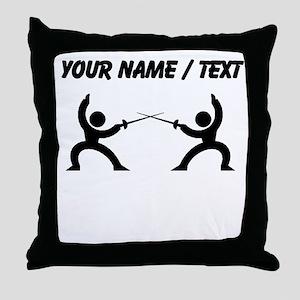 Custom Fencing Throw Pillow