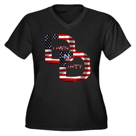 Patriotic USA DND Logo Women's Plus Size V-Neck Da