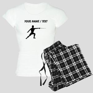 Custom Fencer Silhouette Pajamas