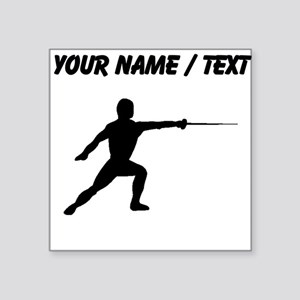 Custom Fencer Silhouette Sticker