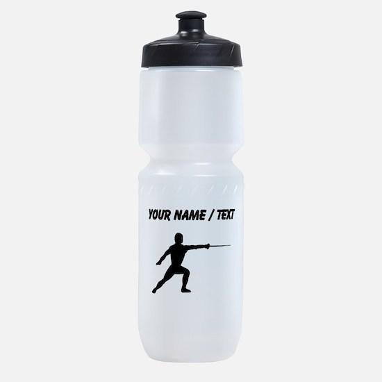 Custom Fencer Silhouette Sports Bottle