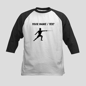 Custom Fencer Silhouette Baseball Jersey