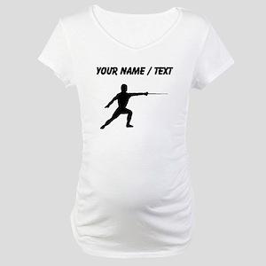 Custom Fencer Silhouette Maternity T-Shirt