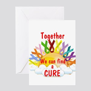 Together we can find a cure Greeting Cards