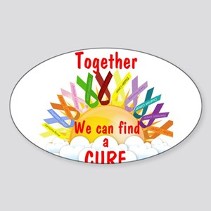 Together we can find a cure Sticker